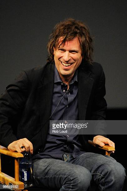 Writer/director Brett Morgen speaks at the panel and screening of Beyond Playing The Field during the 2010 Tribeca Film Festival at the School of...