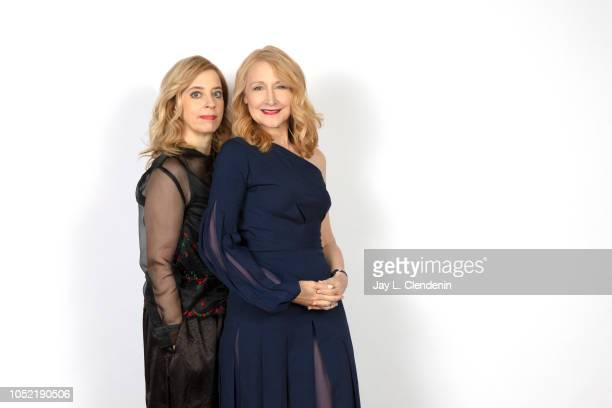 Writer/director Carol Morley and actress Patricia Clarkson from 'Out of Blue' are photographed for Los Angeles Times on September 8 2018 in Toronto...
