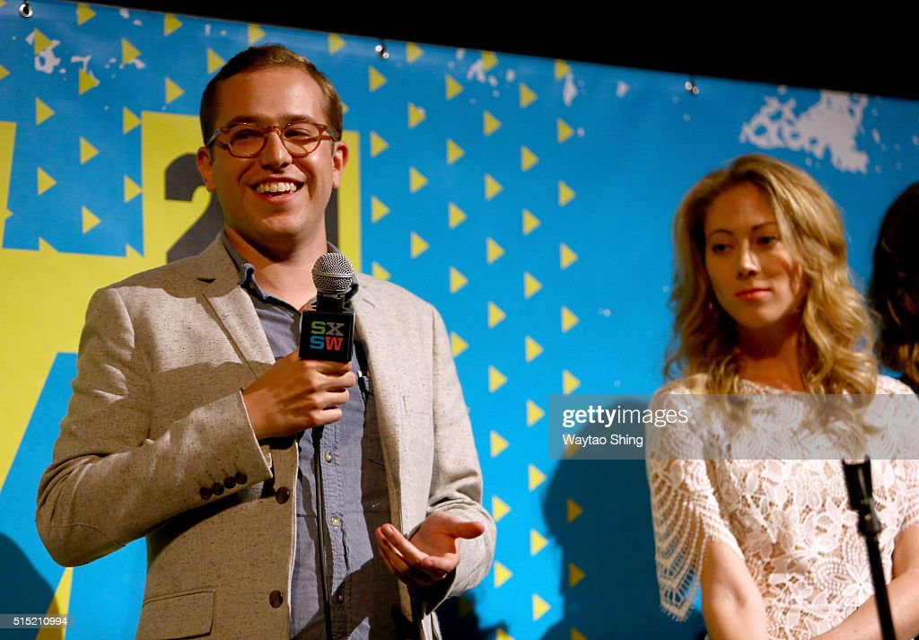 Writer/director Chadd Harbold and actress Christine Evangelista speak onstage during the premiere of 'Long Nights Short Mornings' during the 2016 SXSW Music, Film + Interactive Festival at Alamo Lamar A on March 12, 2016 in Austin, Texas.