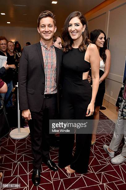 Writer/Director Chris Kelly and actress D'Arcy Carden attends the premiere of Vertical Entertainment's 'Other People' at The London West Hollywood on...