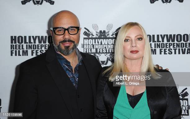 Writer/director Chris Roe and actress Traci Lords arrive for The 2019 Hollywood Reel Independent Film Festival held at Regal LA Live Stadium 14 on...