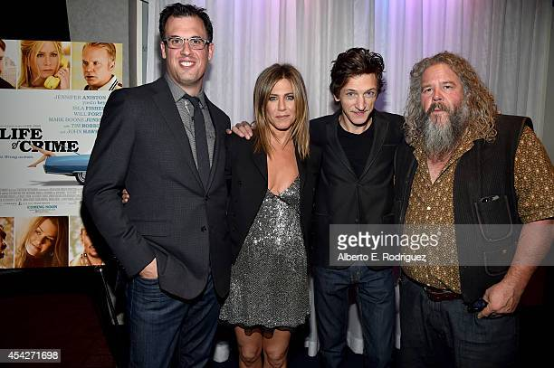 Writer/director Daniel Schechter actress Jennifer Aniston and actors John Hawkes and Mark Boone Junior attend the premiere of Lionsgate and Roadside...