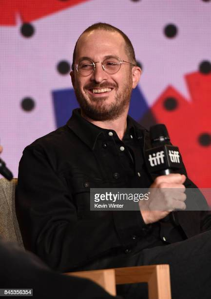 Writer/director Darren Aronofsky speaks onstage at the 'mother' press conference during the 2017 Toronto International Film Festival at TIFF Bell...