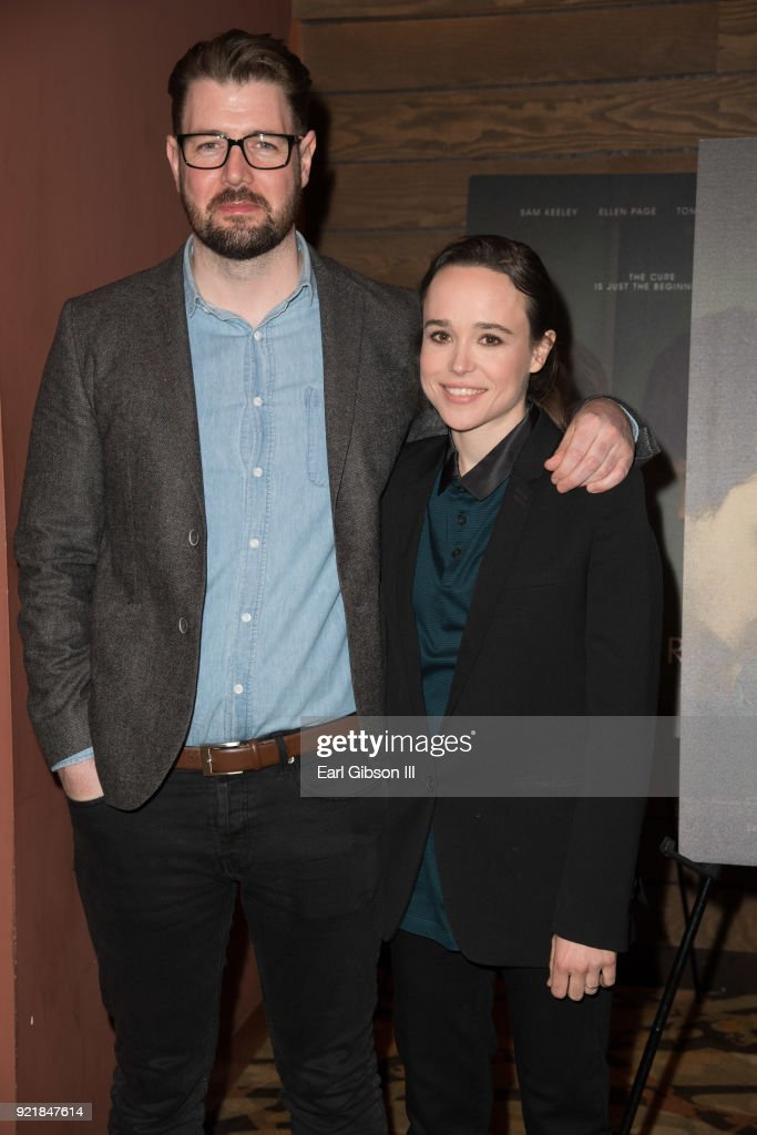 Writer/director David Freyne and actress Ellen Page attend the screening Of IFC Films 'The Cured' at AMC Dine-In Sunset 5 on February 20, 2018 in Los Angeles, California.