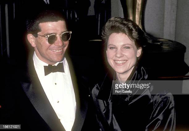 Writer/Director David Mamet and actress Lindsay Crouse attend the 55th Annual Academy Awards on April 11 1983 at Dorothy Chandler Pavilion in Los...