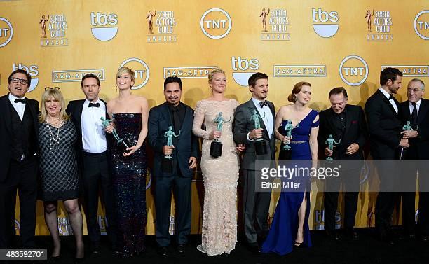 Writer-director David O. Russell, actors Colleen Camp, Alessandro Nivola, Jennifer Lawrence, Michael Pena, Elisabeth Rohm, Jeremy Renner, Amy Adams,...