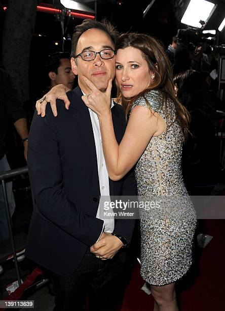 Writer/director David Wain and actress Kathryn Hahn arrive at the premiere of Universal Pictures' 'Wanderlust' held at Mann Village Theatre on...