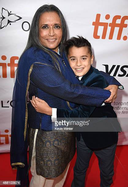 Writer/Director Deepa Mehta and actor Samir Amarshi attend the Beeba Boys premiere during the 2015 Toronto International Film Festival at Roy Thomson...