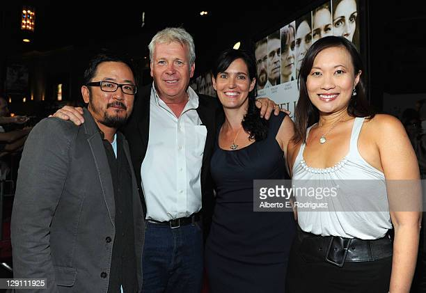 Writer/Director Dennis Lee producers Philip Rose Vanessa Coifman and Sukee Chew arrive at the Fireflies In The Garden Premiere at Pacific Theaters at...