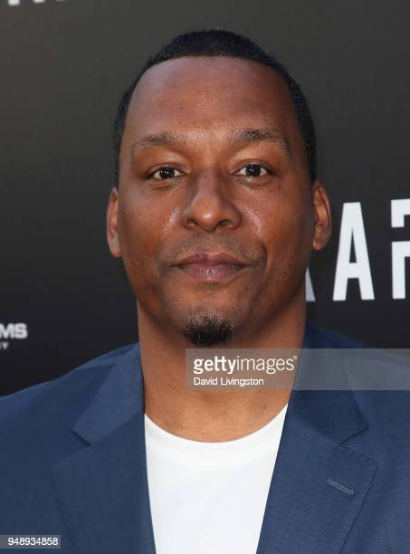 Writer/director Deon Taylor attends the premiere of Codeblack Films' Traffik at ArcLight Hollywood on April 19 2018 in Hollywood California