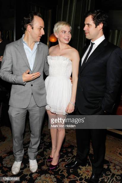Writer/director Derek Cianfrance actress Michelle Williams and producer Alex Orlovsky attend the Cinema Society Piaget screening of 'Blue Valentine'...