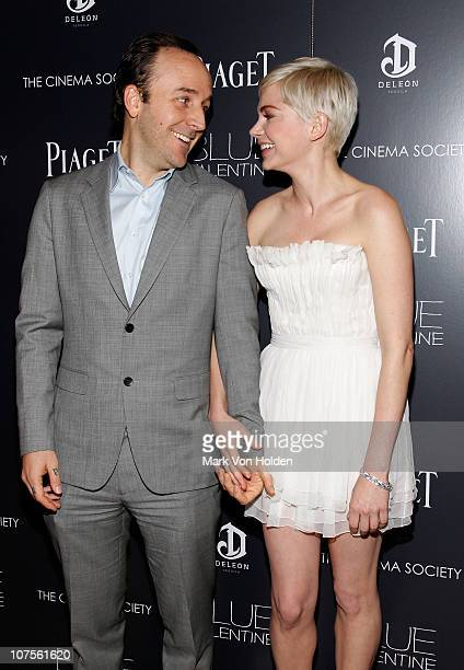 Writer/director Derek Cianfrance and actress Michelle Williams attend the Cinema Society Piaget screening of 'Blue Valentine' at theTribeca Grand...