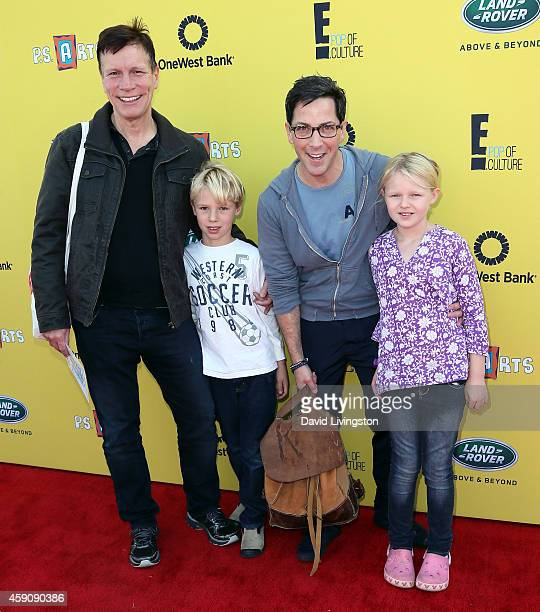 Writer/director Don Roos Jonah Bucatinsky actor Dan Bucatinsky and Eliza Bucatinsky attend PS ARTS Express Yourself 2014 at the Barker Hanger on...