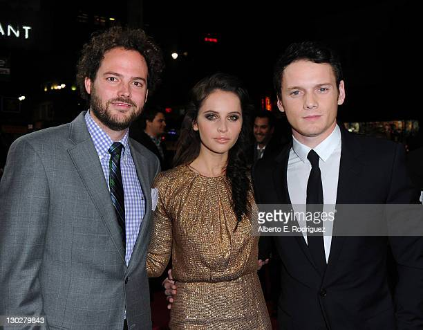 Writer/director Drake Doremus actors Felicity Jones and Anton Yelchin arrive at the premiere of Paramount Pictures' Like Crazy held at the Egyptian...
