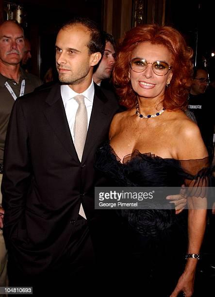 Writer/director Edoardo Ponti and Sophia Loren during 2002 Toronto Film Festival Between Strangers Premiere in Toronto Ontario Canada