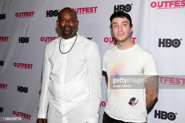 Writer/director Elegance Bratton and film editor Bernhard Fasenfest attend the 2019 Outfest Los Angeles LGBTQ Film Festival screening of Pier Kids at...