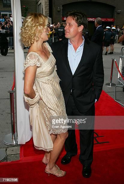 "Writer/director Emilio Estevez and fiance Sonia Magdevski arrive at the Toronto International Film Festival gala presenation of the film ""Bobby"" held..."
