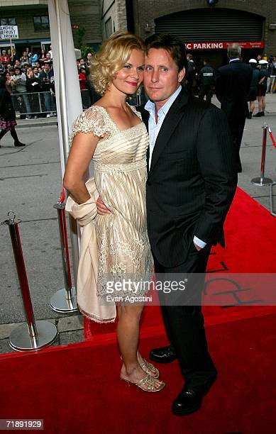 "Writer/director Emilio Estevez and fiance Sonja Magdevski arrive at the Toronto International Film Festival gala presenation of the film ""Bobby"" held..."