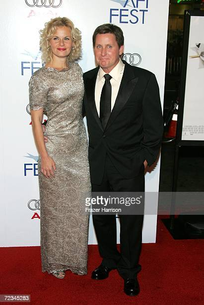 Writer/Director Emilio Estevez and fiance Sonja Magdevski arrive at the AFI FEST presented by Audi opening night gala of Bobby at the Grauman's...