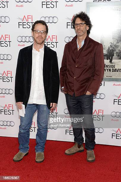 Writer/director Ethan Coen and writer/director Joel Coen attend the AFI FEST 2013 presented by Audi closing night gala screening of Inside Llewyn...
