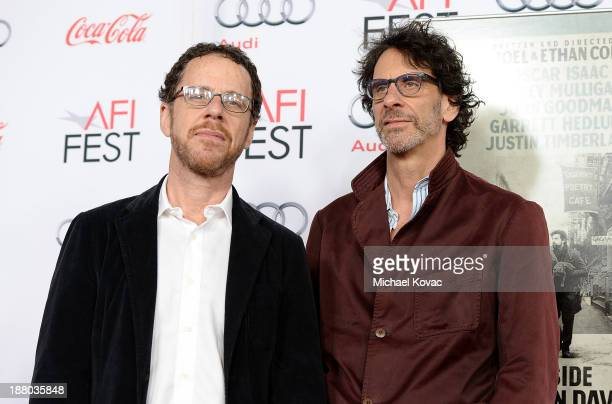 Writer/director Ethan Coen and writer/director Joel Coen attend the AFI FEST 2013 presented by Audi closing night gala screening of 'Inside Llewyn...