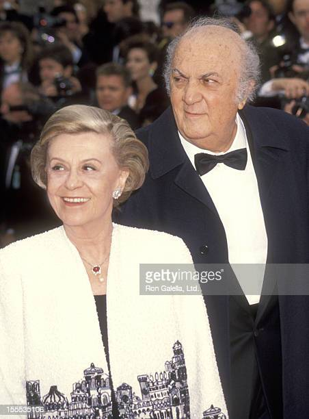 Writer/Director Federico Fellini and wife actress Giulietta Masina attend the 65th Annual Academy Awards on March 29 1993 at Dorothy Chandler...
