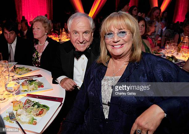 Writer/director Garry Marshall and actress Penny Marshall in the audience at the 6th annual TV Land Awards held at Barker Hangar on June 8 2008 in...