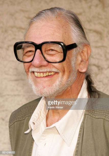 Writer/director George A Romero arrives at premiere of universal Pictures 'Land of the Dead' at the National Theatre on June 20 2005 in Westwood...