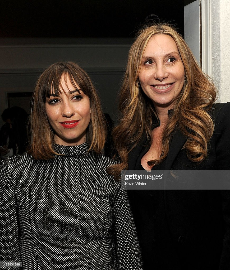 Writer/director Gia Coppola (L) and her mother Jacqui Getty pose at the after party for the premiere of Tribeca Film's 'Palo Alto' at the Chateau Marmont on May 5, 2014 in West Hollywood, California.