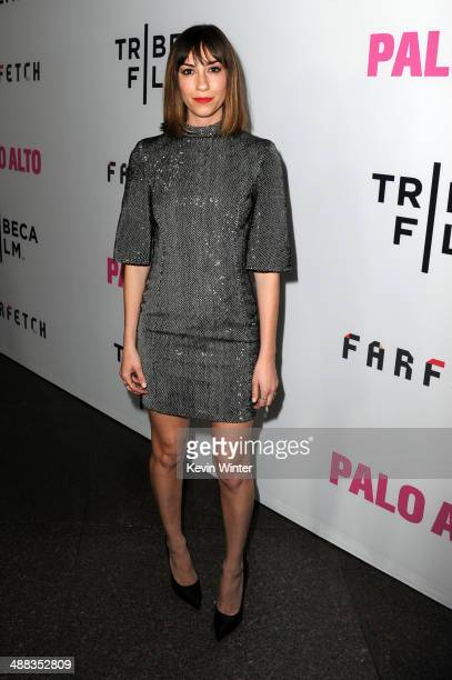 Writer/director Gia Coppola attends the premiere of Tribeca Film's 'Palo Alto' at the Directors Guild of America on May 5 2014 in Los Angeles...