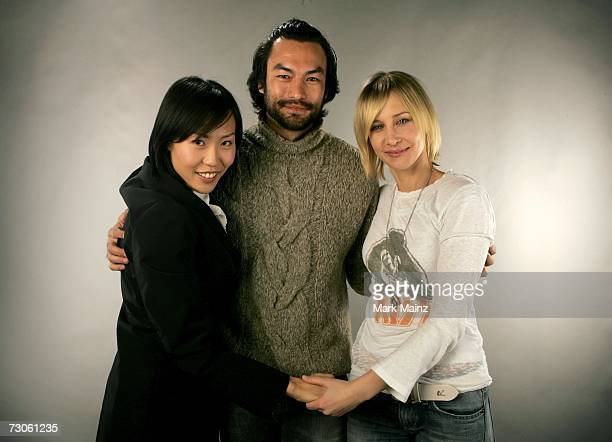 "Writer/Director Gina Kim, actor David McInnis and actress Vera Farmiga from the film ""Never Forever"" pose for a portrait during the 2007 Sundance..."