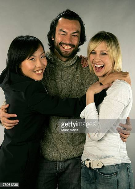 """Writer/Director Gina Kim, actor David McInnis and actress Vera Farmiga from the film """"Never Forever"""" pose for a portrait during the 2007 Sundance..."""