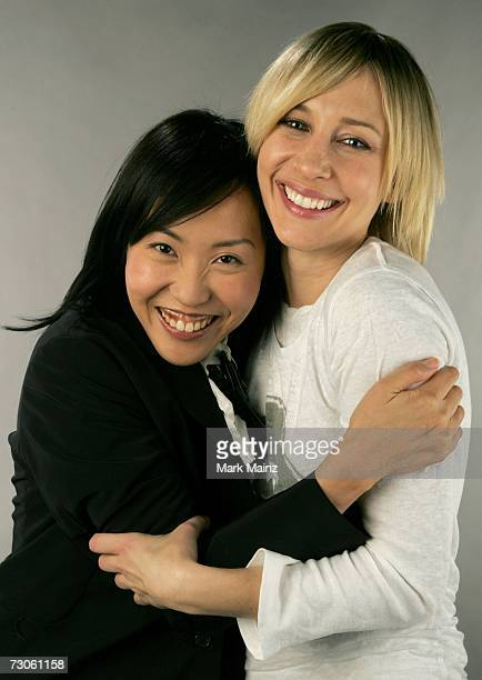 "Writer/Director Gina Kim and actress Vera Farmiga from the film ""Never Forever"" pose for a portrait during the 2007 Sundance Film Festival on January..."