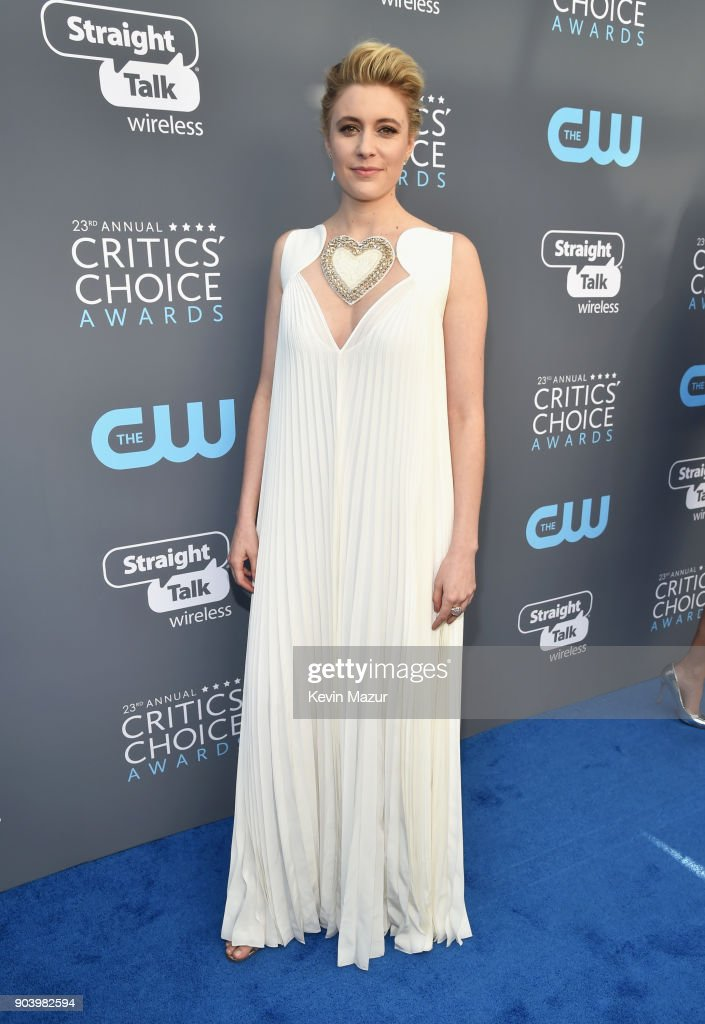 Writer-director Greta Gerwig attends The 23rd Annual Critics' Choice Awards at Barker Hangar on January 11, 2018 in Santa Monica, California.