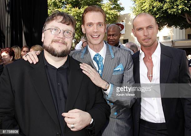 Writer/director Guillermo del Toro and actors Doug Jones and Luke Goss pose at the world premiere of Universal Picture's Hellboy II The Golden Army...