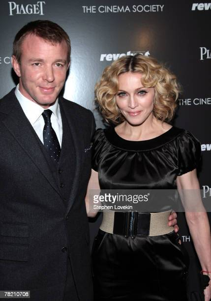 Writer/director Guy Ritchie and musician Madonna attend a screening of Revolver hosted by the Cinema Society and Piaget at the Tribeca Grand...
