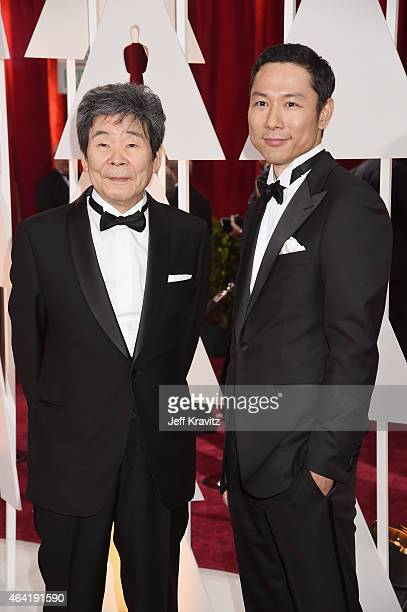 Writer/Director Isao Takahata and producer Yoshiaki Nishimura attend the 87th Annual Academy Awards at Hollywood & Highland Center on February 22,...