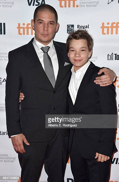 Writer/Director Jalmari Helander and Actor Onni Tommila attend the Big Game premiere during the 2014 Toronto International Film Festival at Ryerson...