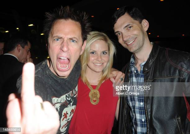 Writer/director James Gunn actress Nikki Griffin and guest at the AfterParty For Cinemax's Femme Fatales 2nd Season held at ArcLight Hollywood on May...