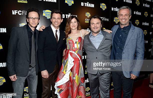 Writer/director Jarrad Paul, actors James Marsden, Kathryn Hahn, and Jack Black, and writer/director Andrew Mogel attend Banana Boat Presents The Los...