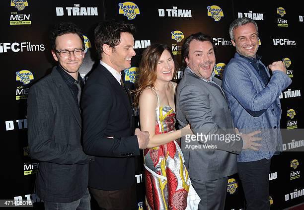 Writer/director Jarrad Paul actors James Marsden Kathryn Hahn Jack Black and writer/director Andrew Mogel attend the premiere of IFC Films' 'THE D...