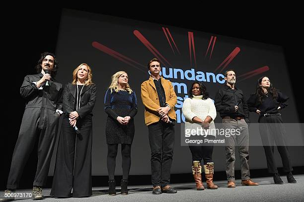 Writer/director Jason Lew producer Laura Rister and actors Elisabeth Moss Boyd Holbrook Octavia Spencer Waleed Zuaiter and director of photography...