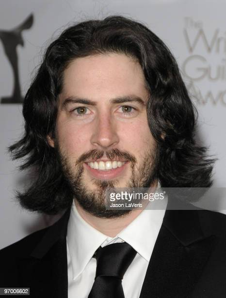 Writer/director Jason Reitman poses for photos in the press room at the 2010 Writers Guild Awards at Hyatt Regency Century Plaza Hotel on February...