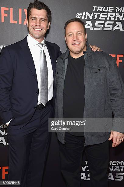 Writer/director Jeff Wadlow and actor Kevin James attend the 'True Memoirs Of An International Assassin' New York premiere at AMC Lincoln Square...
