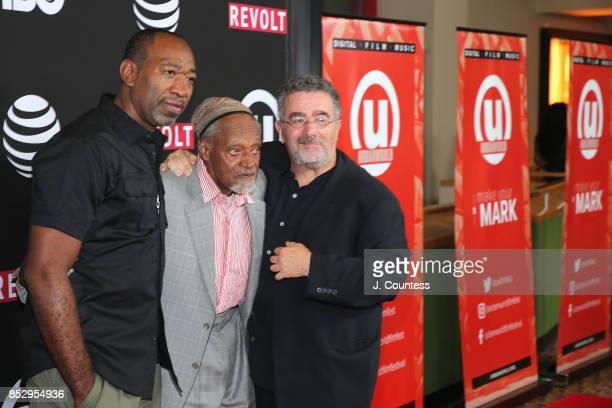 Writer/director Jerry LaMothe, filmmaker Melvin Van Peebles and actor Saul Rubinek attend the 21st Annual Urbanworld Film Festival at AMC Empire 25...