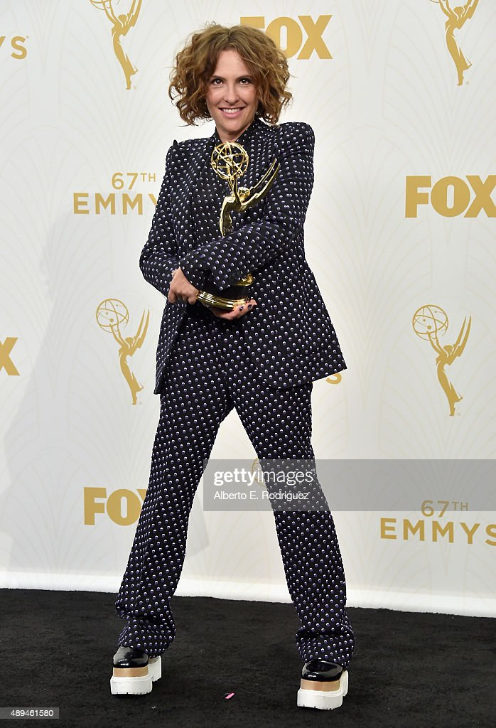 Writer/director Jill Soloway, winner of the award for Outstanding Directing for a Comedy Series for 'Transparent', poses in the press room at the 67th Annual Primetime Emmy Awards at Microsoft Theater on September 20, 2015 in Los Angeles, California.