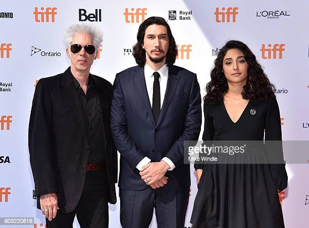 Writer/director Jim Jarmusch and actors Adam Driver and Golshifteh Farahani attend the Paterson premiere during the 2016 Toronto International Film...