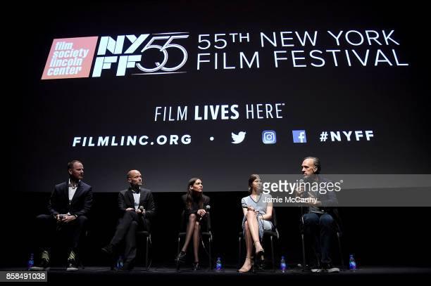 Writer/director Joachim Triercowriter Eskil VogtKaya WilkinsEili Harboe and Kent Jones attend the 55th New York Film Festival 'Thelma' at Alice Tully...