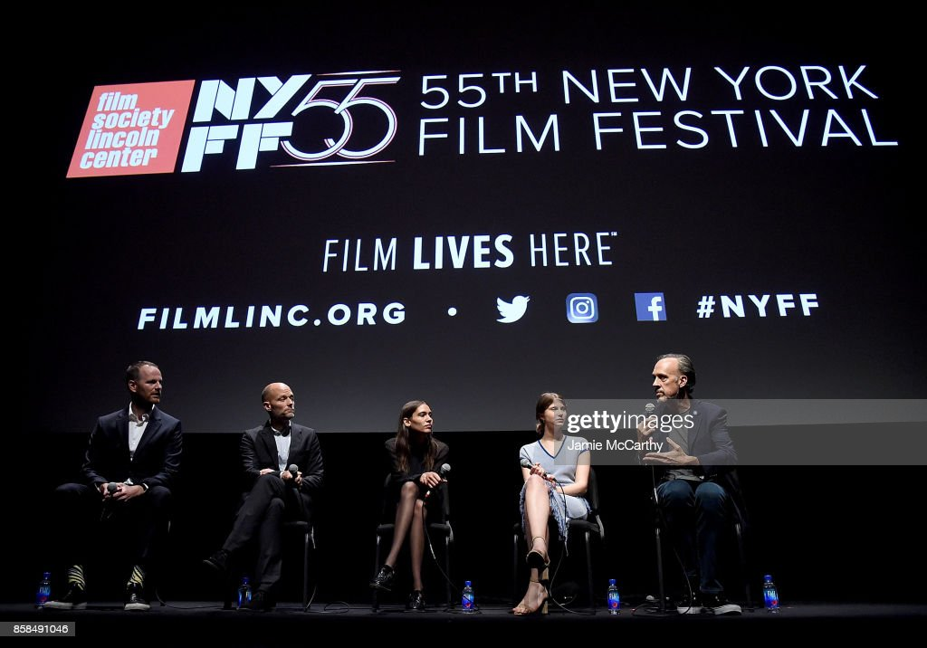 Writer/director Joachim Trier,co-writer Eskil Vogt,Kaya Wilkins,Eili Harboe and Kent Jones attend the 55th New York Film Festival - 'Thelma' at Alice Tully Hall on October 6, 2017 in New York City.