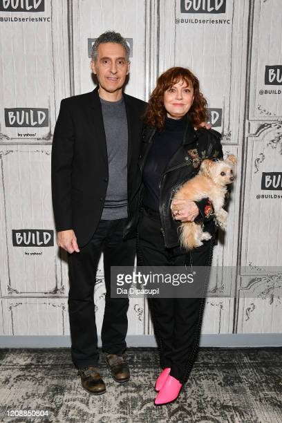 """Writer/director John Turturro and Susan Sarandon visit the Build Series to discuss """"The Jesus Rolls"""" at Build Studio on February 26, 2020 in New York..."""